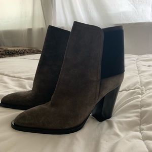 Vince charcoal suede boots